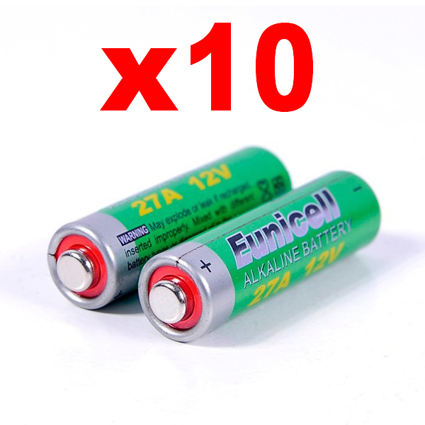 10 alkalina 12v pile mn27 batterie telecomando cancello a27 v27a micro xv. Black Bedroom Furniture Sets. Home Design Ideas